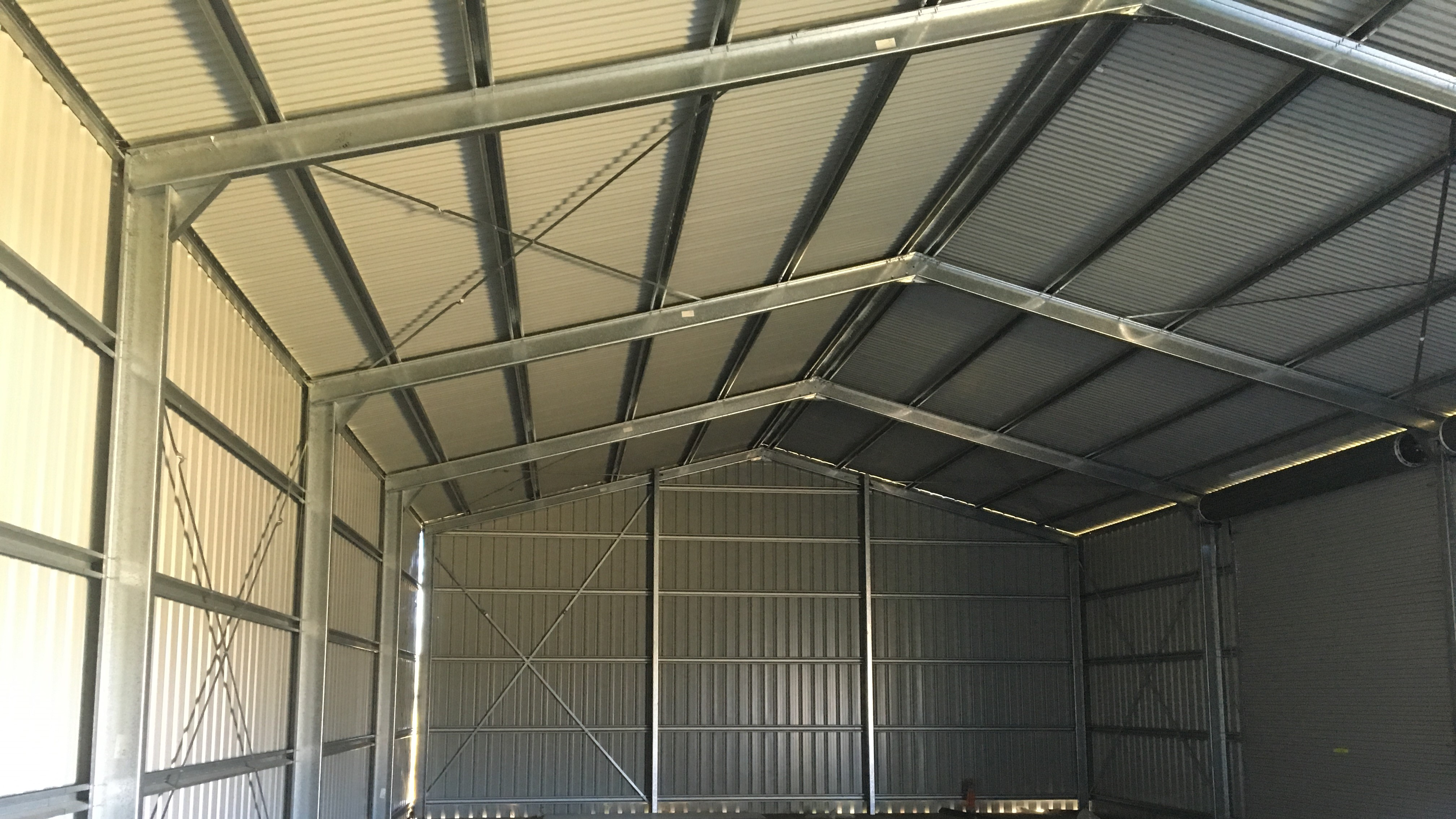 Wide screen shed