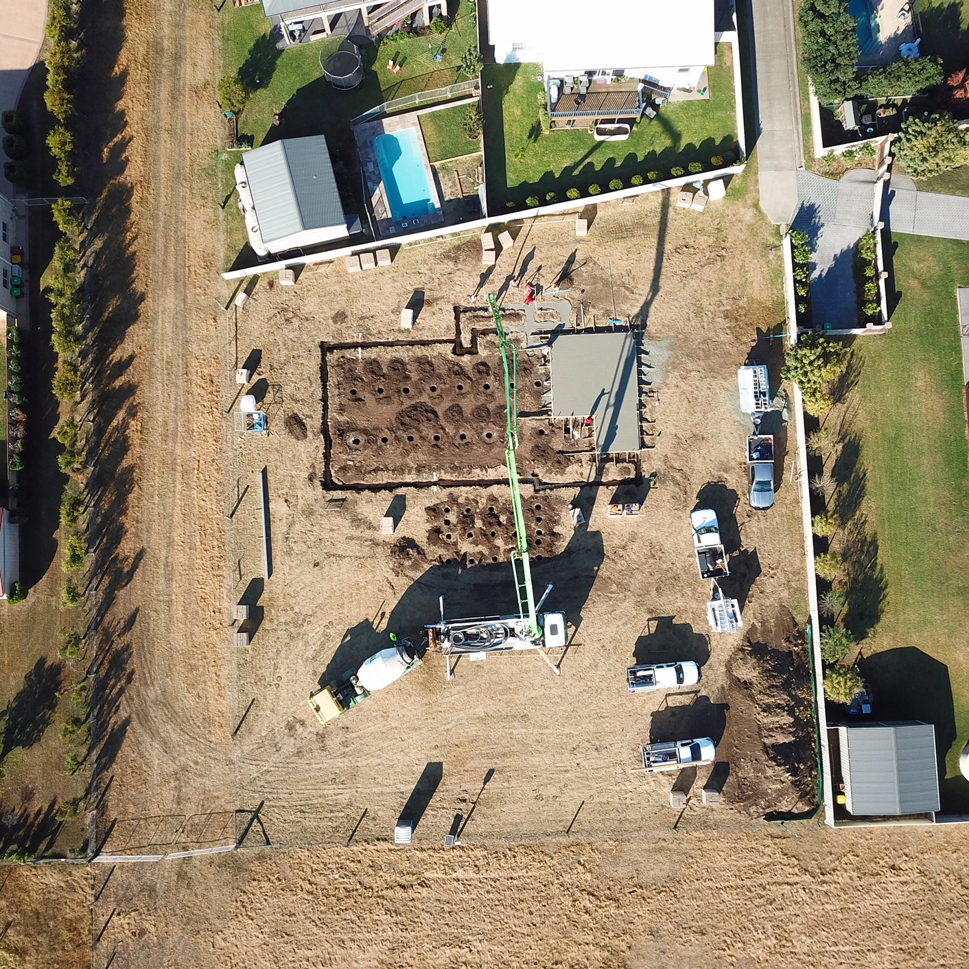 Aerial Shot Of Footings