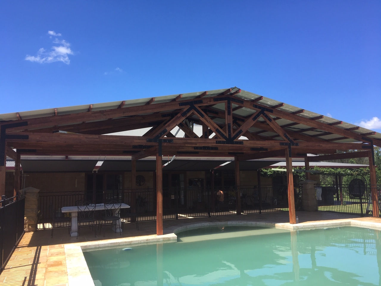 Poolside Shelter
