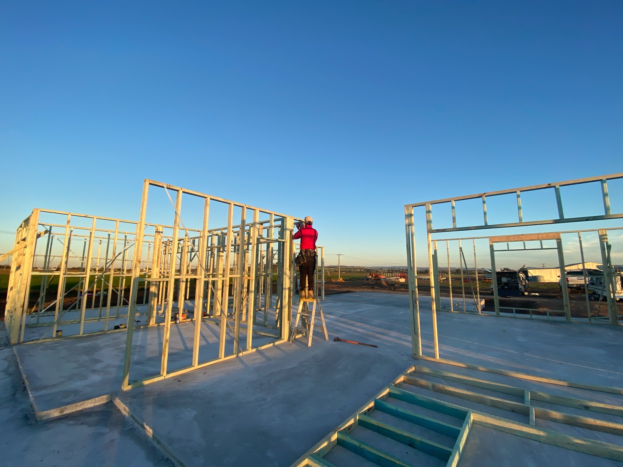 Standing timber frames