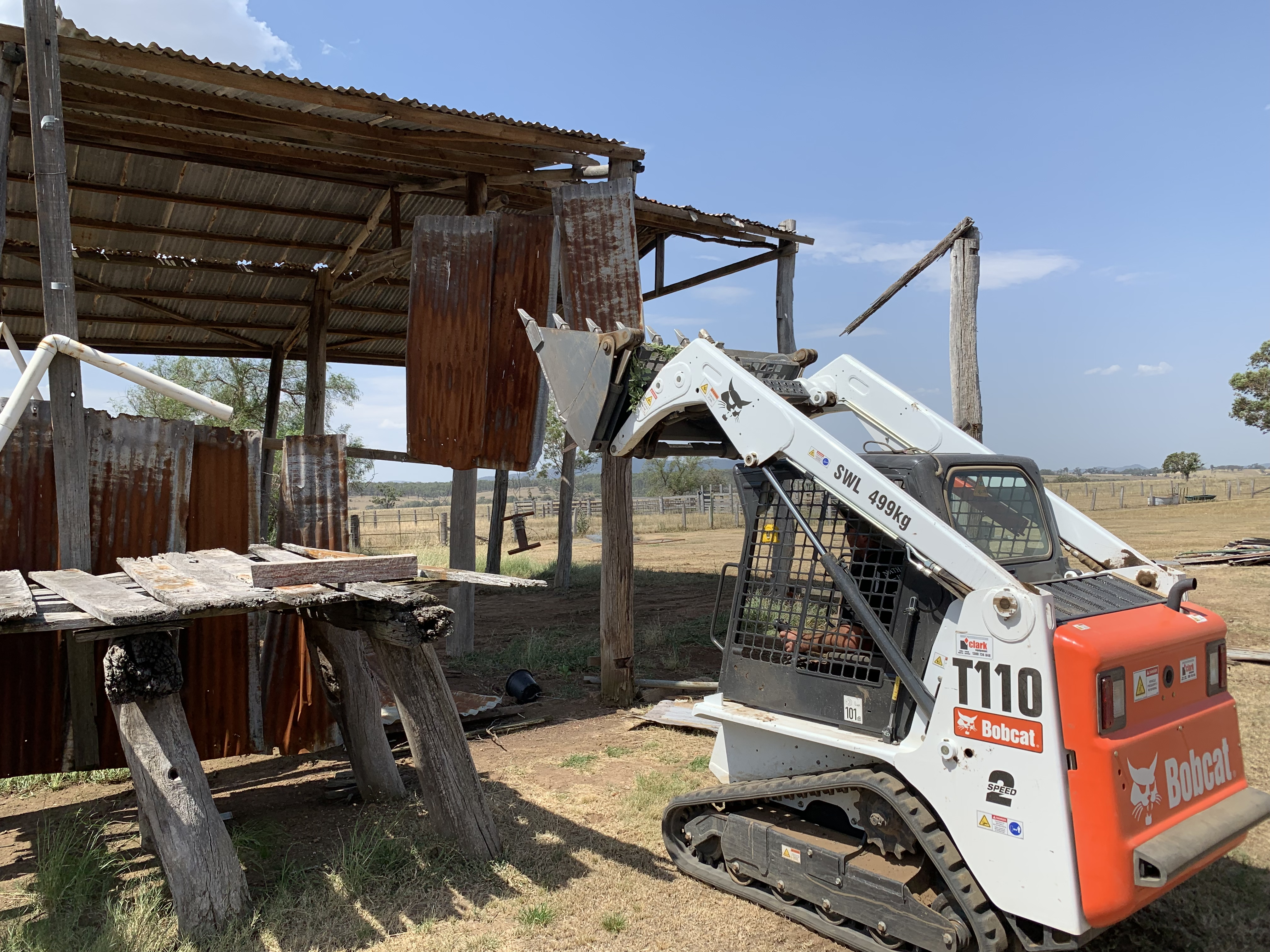 Demolition of an old shed
