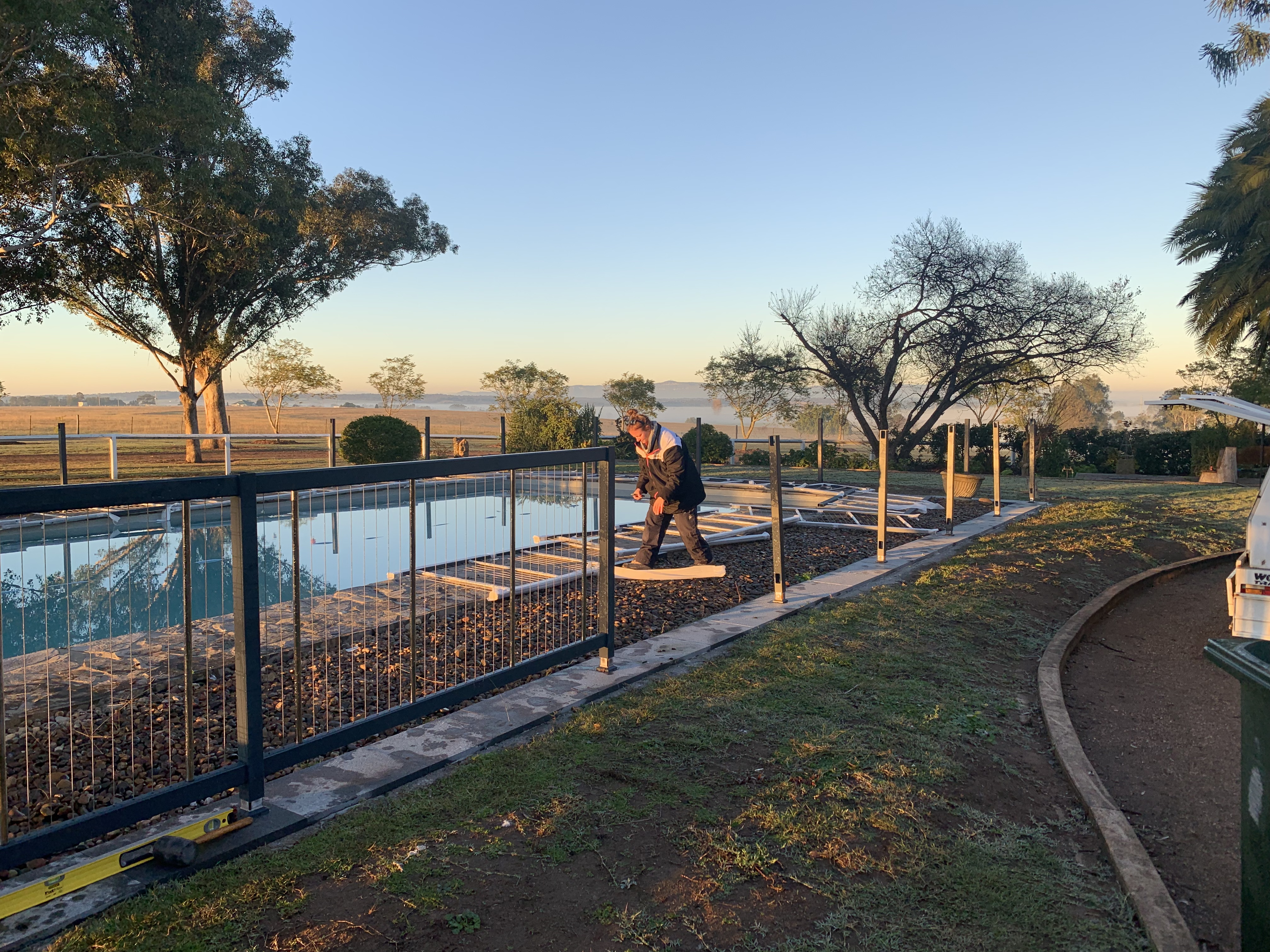 New pool fencing