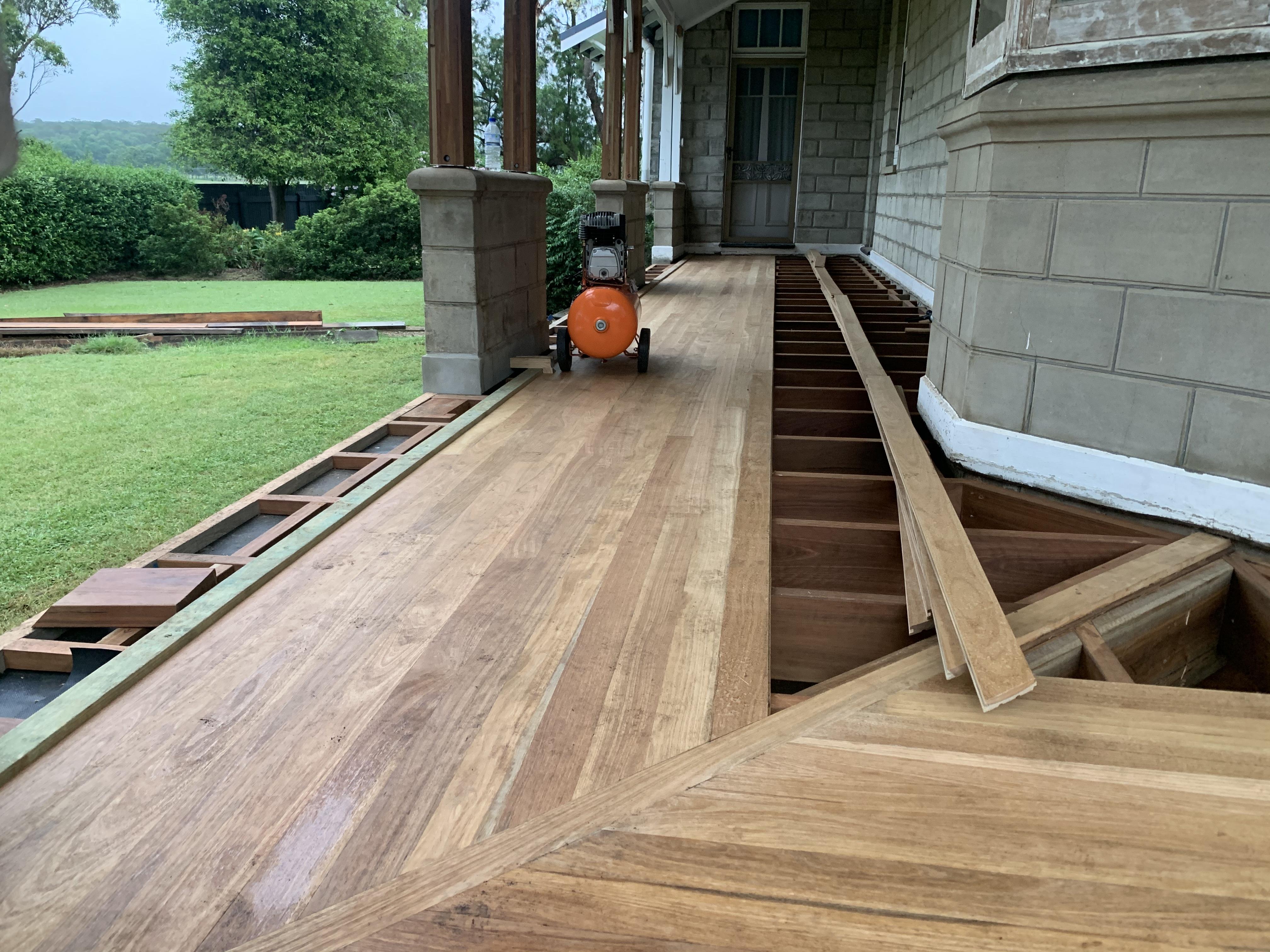 Restoration of an old homestead verandah