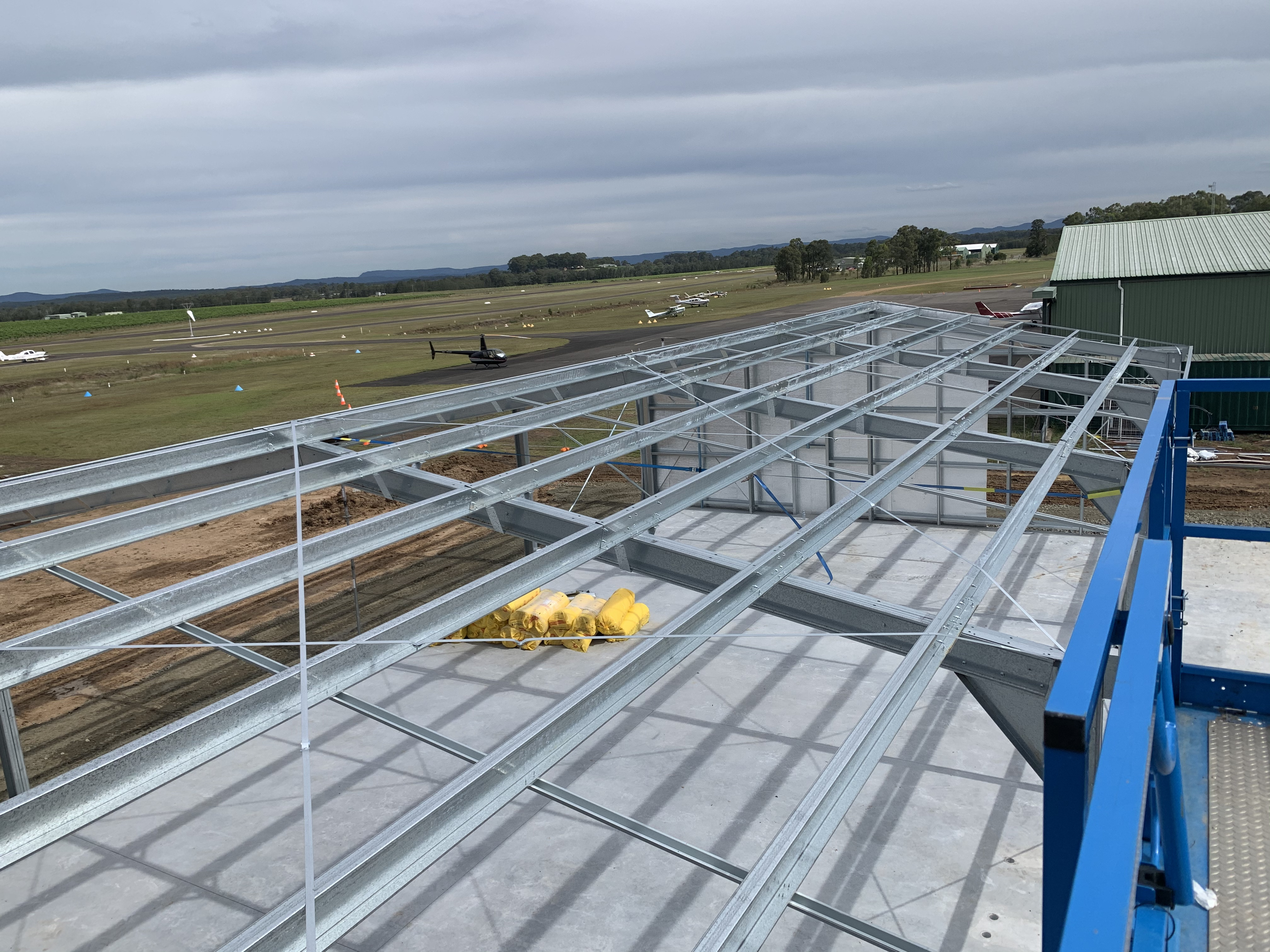 Commercial shed for new Hangar at Cessnock airport