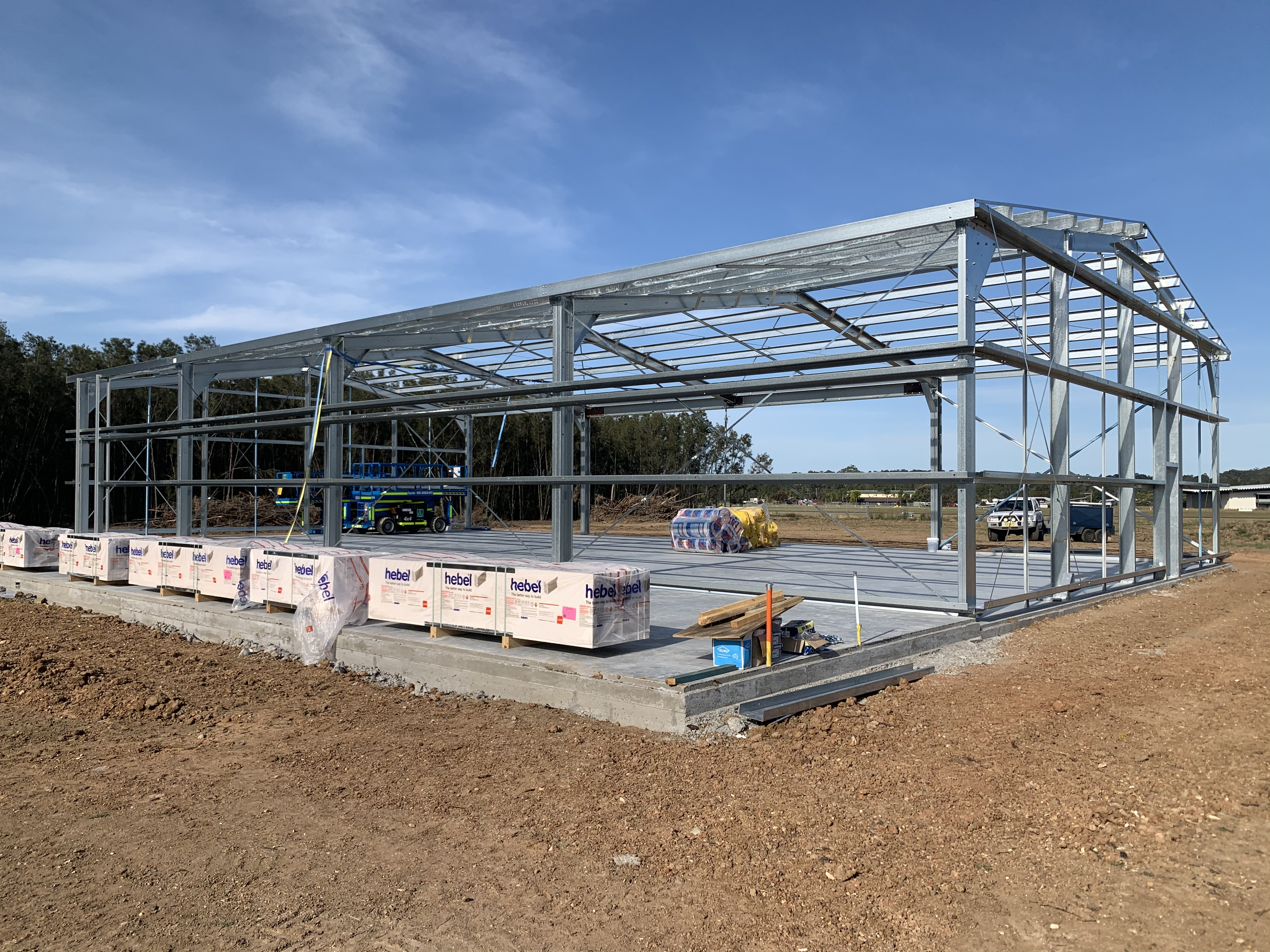 Commercial shed erection